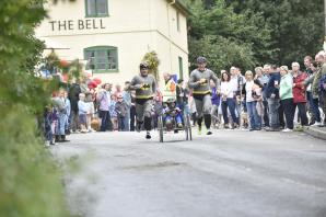 Super human effort at Great Cheverell soapbox derby